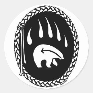 Primeros regalos del oso de las naciones del oso pegatina redonda