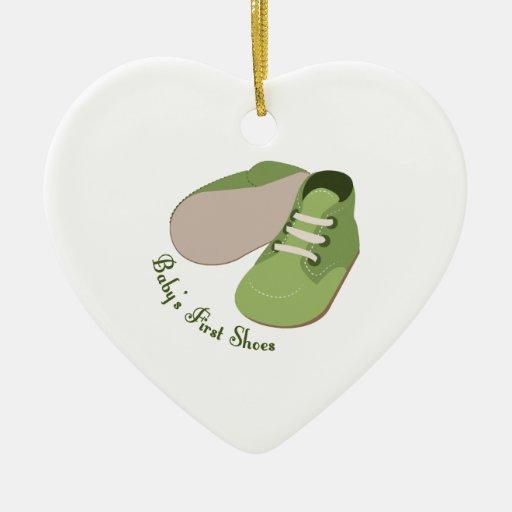 Primeros zapatos ornamentos de navidad