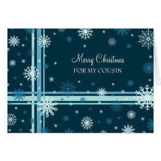 Primo de las Felices Navidad de la nieve Tarjeta De Felicitación