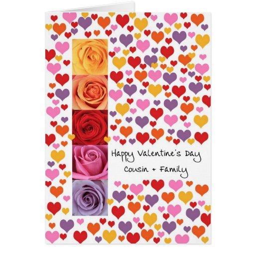 Primo + El día de San Valentín coloreado familia Felicitaciones