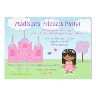 Princesa afroamericana Party Invitation Invitación 12,7 X 17,8 Cm
