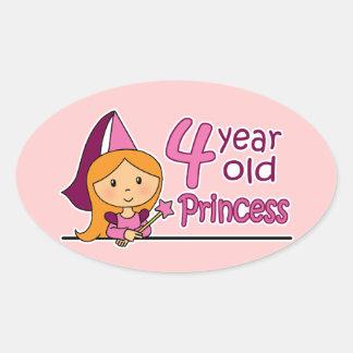 Princesa Age 4 Colcomanias Óval