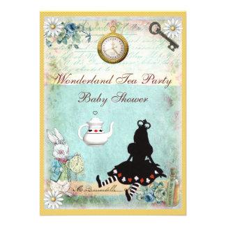 Princesa Alicia en fiesta del té de la fiesta de b Invitacion Personalizada