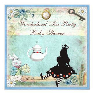Princesa Alicia en fiesta del té de la fiesta de Invitación 13,3 Cm X 13,3cm