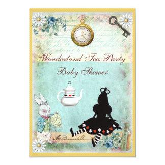 Princesa Alicia en fiesta del té de la fiesta de Invitación 12,7 X 17,8 Cm