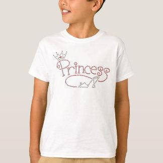 Princesa atractiva Crown y zapato del tacón alto Camiseta