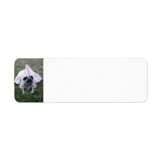 Princesa Avery Label del perro del barro amasado Etiqueta De Remite