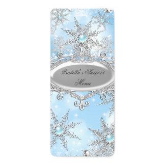Princesa azul helada Winter Wonderland Sweet 16 Invitación 10,1 X 23,5 Cm
