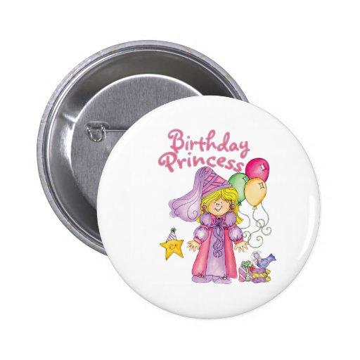 Princesa Birthday Girl Pin