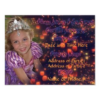 Princesa Birthday Invitations de 4 años con la Invitación 10,8 X 13,9 Cm