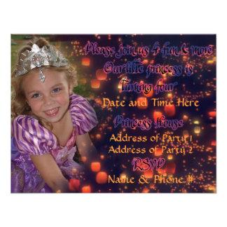 Princesa Birthday Invitations de 4 años con la par Comunicados Personalizados