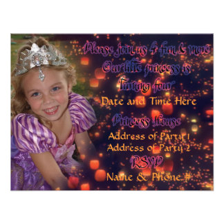 Princesa Birthday Invitations de 4 años Comunicados