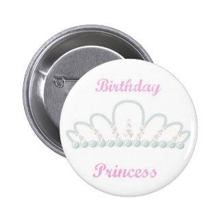 Princesa Birthday Pin Chapa Redonda De 5 Cm