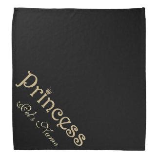 Princesa Black y oro del mascota personalizados Bandanas