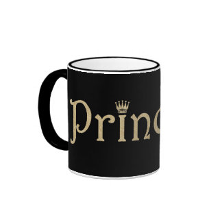 Princesa Black y oro del mascota personalizados Taza A Dos Colores