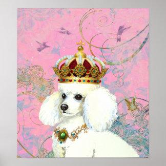 Princesa blanca Hummingbird Poster Print del canic