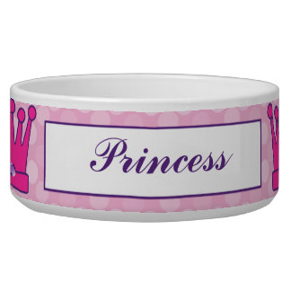 Princesa bonita Crown Personalized Pet Bowls Comedero Para Mascota