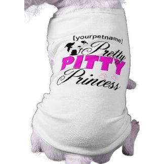 Princesa bonita Pitbull Shirt de Pitty Camiseta Sin Mangas Para Perro