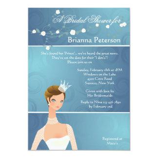Princesa Bridal Shower Invitation de la novia Invitación 12,7 X 17,8 Cm