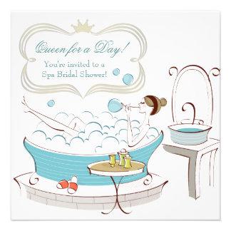 Princesa Bride Spa Bridal Shower Comunicados Personalizados