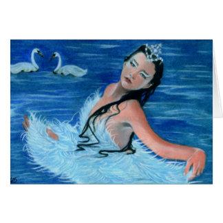 Princesa Card del lago swan Tarjeta