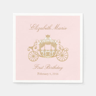 Princesa Carriage Napkins Servilletas Desechables