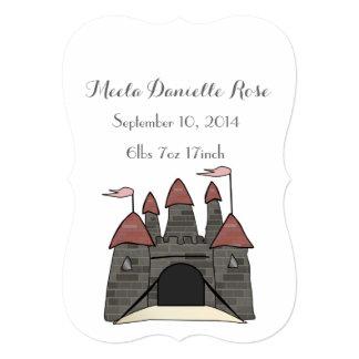 Princesa Castle Announcement Invitación 12,7 X 17,8 Cm