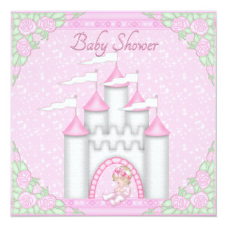 Princesa Castle Baby y fiesta de bienvenida al Invitación 13,3 Cm X 13,3cm