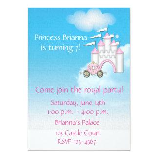Princesa Castle Invitation Invitación 12,7 X 17,8 Cm