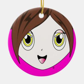 Princesa Cherry™ Ornament Adorno Redondo De Cerámica