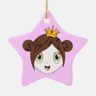 Princesa Cherry™ Ornament Adorno De Cerámica En Forma De Estrella
