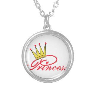 Princesa con la corona colgante redondo