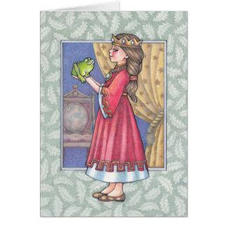princesa con la tarjeta de la rana