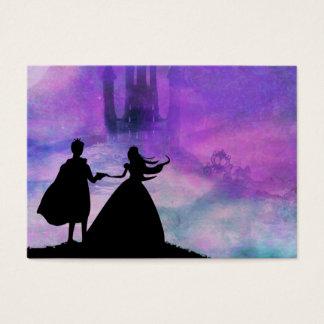 princesa con la tarjeta del príncipe visita