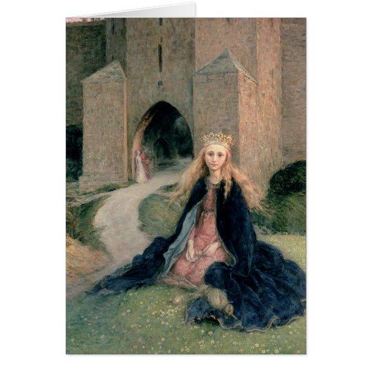 Princesa con un eje tarjeta de felicitación