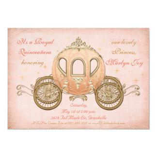 Princesa coralina Quinceanera Invitations del Invitación 12,7 X 17,8 Cm