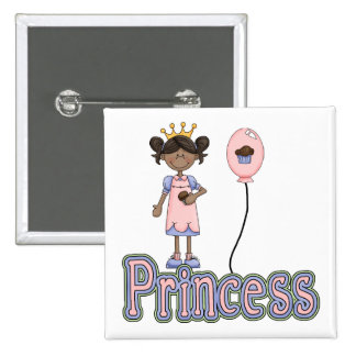 Princesa Cupcake Birthday Button - insignia del Pin