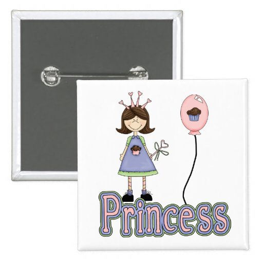 Princesa Cupcake Birthday Pin Badge