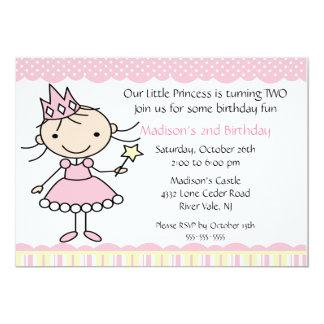 Princesa Dance Birthday Invitation Invitación 12,7 X 17,8 Cm