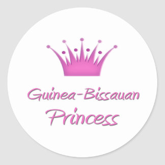 Princesa de Guinea-Bissauan Pegatina Redonda