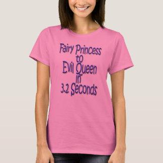 Princesa de hadas a la reina malvada en 3,2 camiseta