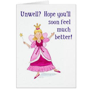 Princesa de hadas Get Well Soon Card Tarjeta