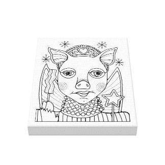 Princesa de hadas línea diseño del tocino del arte