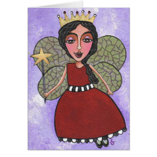 Princesa de hadas - notecard tarjeta pequeña