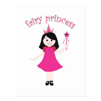 Princesa de hadas tarjetas postales