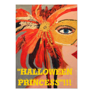 PRINCESA DE HALLOWEEN INVITACIÓN 13,9 X 19,0 CM