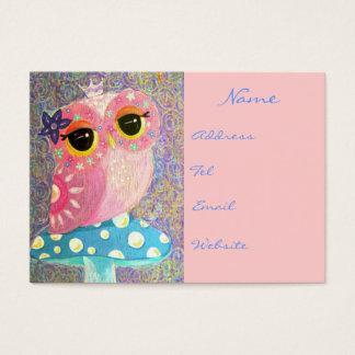 Princesa de la hada del búho tarjeta de visita