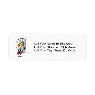 Princesa de los rescates de príncipe el encantar etiqueta de remitente