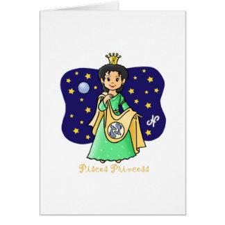 Princesa de Piscis Tarjeta De Felicitación