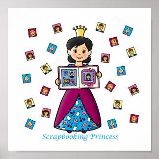 Princesa de Scrapbooking Posters